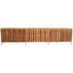 Monumental Rosewood Sideboard Credenza Media Cabinet Bespoke Very Large 1970s