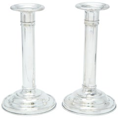 Edwardian Pair of Sterling Silver Candlesticks