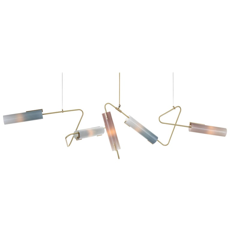 Continuum Topaz and Slate Chandelier 85 by Avram Rusu Studio For Sale