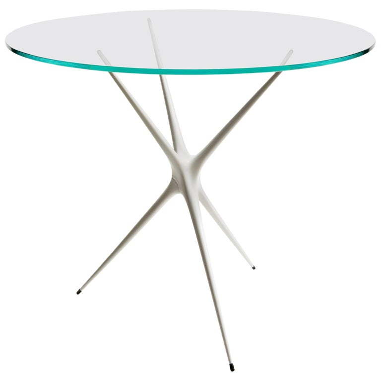 Supernova, Recycled Cast Aluminum Table Leg in White by Made in Ratio For Sale