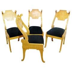 Set of Four Biedermeier Style Side Chairs
