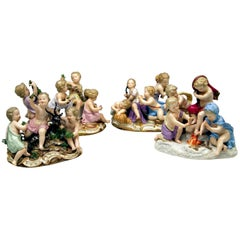 Meissen Four Seasons Figurines by Kaendler, circa 1850