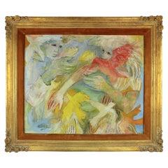 Frances Gibson Pembroke 'Premier Vol' Modern Oil Painting