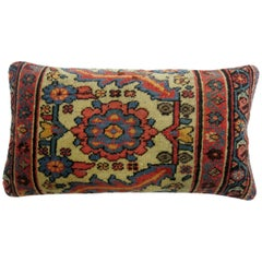 Antique Persian Mahal Bolster Rug Pillow