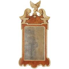 18th Century Georgian Mahogany Parcel-Gilt Mirror