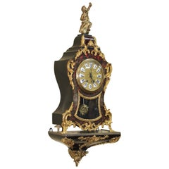 Antique Late 19th Century French Boulle Bracket Clock