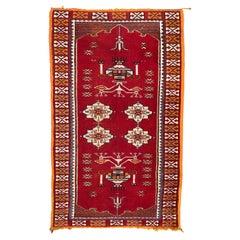 Vintage Moroccan Tribal Rug