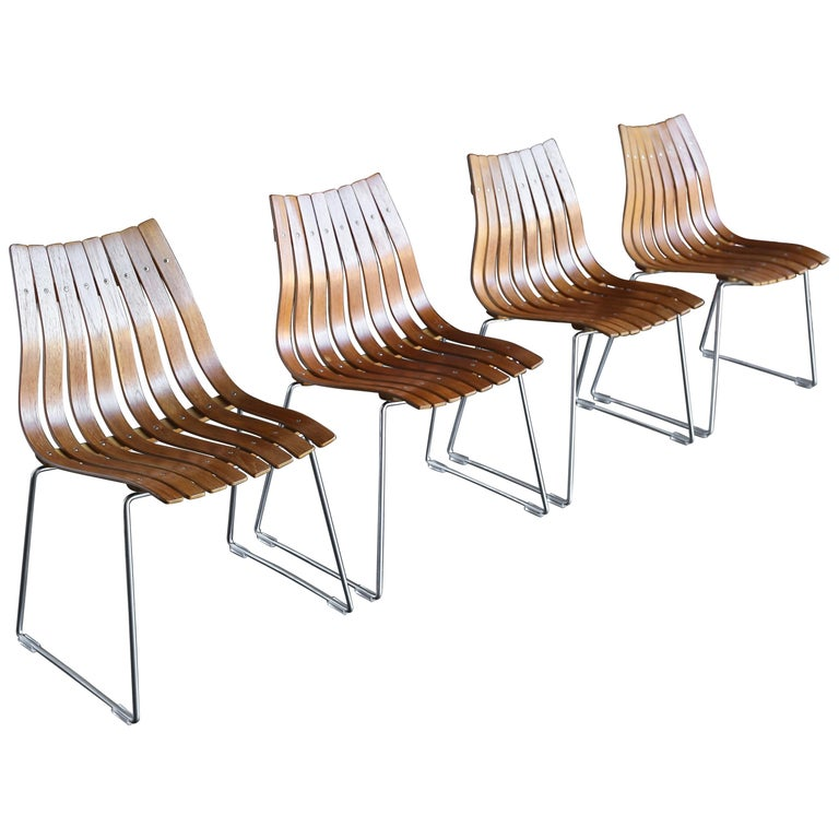 Hans Brattrud Scandia Dining Chairs for Hove Mobler, Norway For Sale