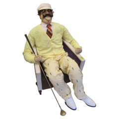 Lifesize Realistic Soft Sculpture of a Male Golfer