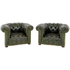 Pair of Chesterfield Armchairs