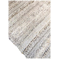 Handwoven Wool Rug, Modern Organic Textured Style