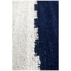 Handwoven Wool Rug, Organic Modern Color Block Style