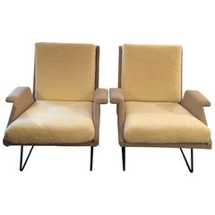 "Louis Paolozzi Pair of ""Confidence"" Armchairs"