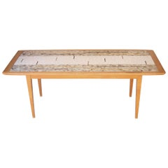 Mid-Century Modern Center Table with Glass Tiles. France, 1960