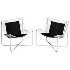 White Jarpen Wire Lounge Chair by Niels Gammelgaard for Ikea, 1983