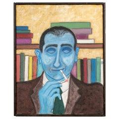 "Pat Jensen, Oil on Canvas, ""Smoker"""