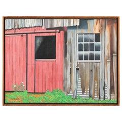 "Pat Jensen, Oil on Canvas, ""Part of the Barn"""