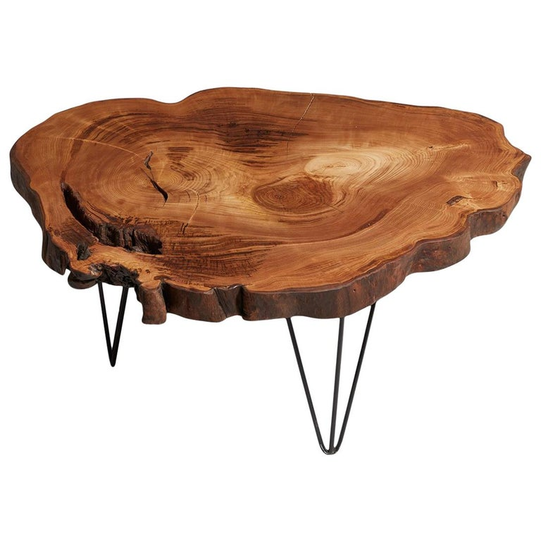 Chestnut Tree Live Edge Coffee Table Rustic End For