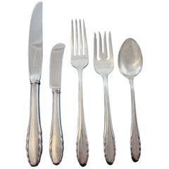 Lyric by Gorham Sterling Silver Flatware Service for 12 Set 69 Pieces
