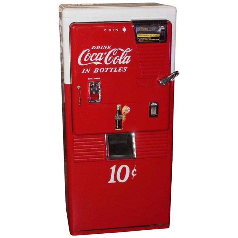 1950s Coca-Cola Westinghouse Model 42 Vending Machine For Sale