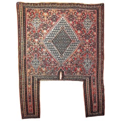 Antique Persian Senneh Horse Cover Kurdistan