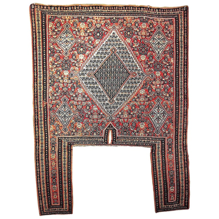 Antique Persian Senneh Horse Cover Kurdistan For Sale At