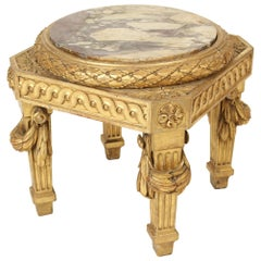 Louis XVI Style Giltwood Low Occasional Table
