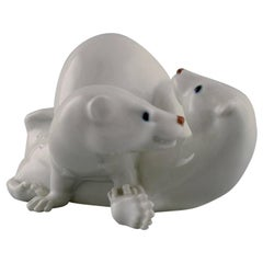 Rare Royal Copenhagen Figurine, Pair of Weasels