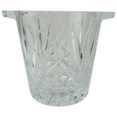 Cut Crystal Ice Bucket with Handles