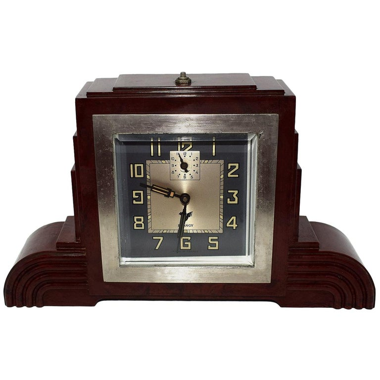 Art Deco Bakelite Odeon Clock by Blangy For Sale