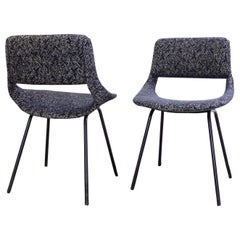 Pair of Chairs by Louis Paolozzi For Zol, New Upholstered