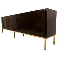 High Gloss Lacquered Credenza Sideboard by Jean Claude Mahey for Roche Bobois