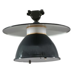 High Quality Enameled Industrial Ceiling Lamp, Germany, 1940