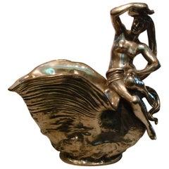 Classic Nude Women Bronze Sculpture Champagne, Wine Cooler, France