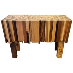 Mixed Wood and Acrylic Paint Table by Artist Ben Darby