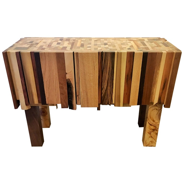 Mixed Wood and Acrylic Paint Table by Artist Ben Darby For Sale