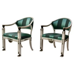 Pair of Swedish Gustavian Armchairs Made by Ephraim Stahl, Stockholm