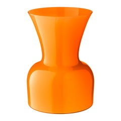 Salviati große Daisy Profili Vase in Orange von Anna Gili