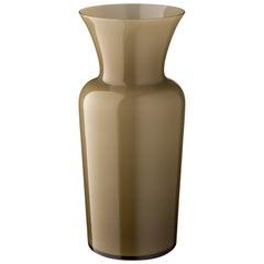 Salviati Medium Schwert Lily Profili Vase in grau von Anna Gili