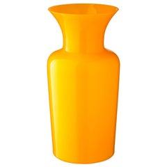 Salviati großes Schwert Lily Profili Vase gelb von Anna Gili