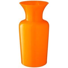 Salviati Large Sword Lily Profili Vase in Orange von Anna Gili