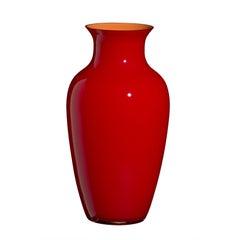 Standard ich Cinesi Vase in leuchtendem Rot von Carlo Moretti