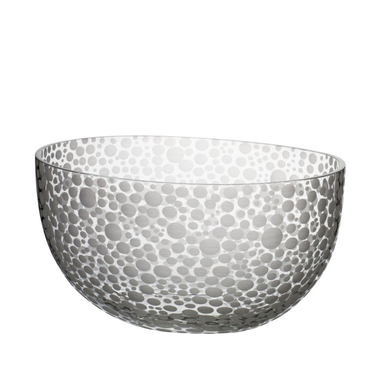 Millebolle Bowl with Spotted White Detail by Carlo Moretti For Sale