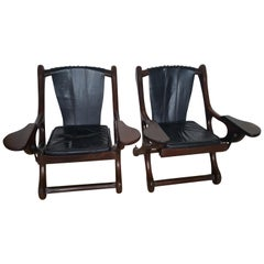 Awesome Pair of Don Shoemaker Rosewood Swinger Chairs