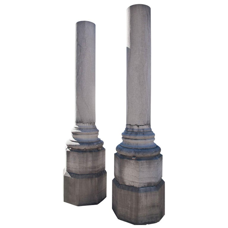 Monumental Pair of Columns For Sale
