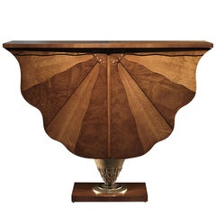 Ali Di Farfalla Console in Briarwood and Walnut