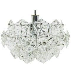 Four Tiers Crystal Glass Chandelier by Kinkeldey, 1960s