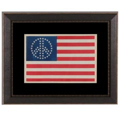 52 Star American Flag Cloth Jacket Emblem with Peace Symbol Configuration