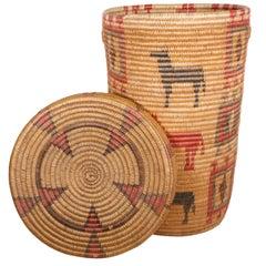Jicarilla Apache Lidded Basket