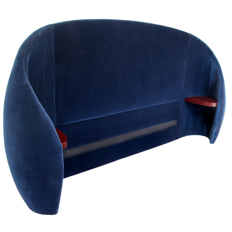 Shell Headboard in Upholstered Fabric For Sale